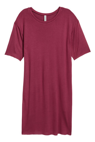 T-shirt dress - Burgundy - Ladies | H&M IE