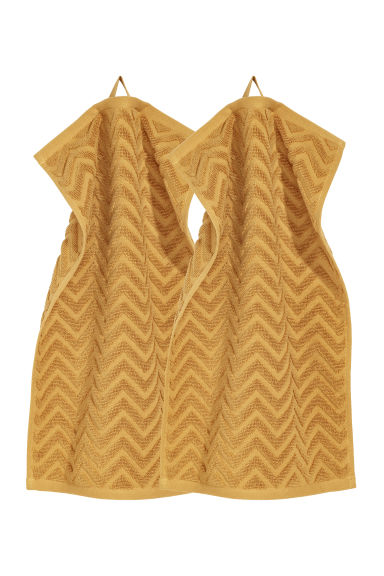 2-pack guest towels - Dark yellow -  | H&M CN
