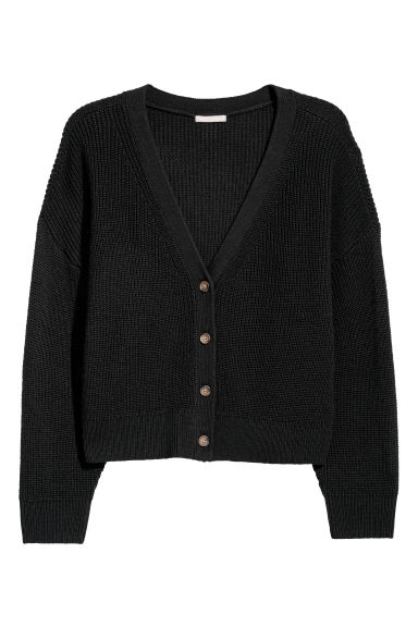 H&M+ Wool-blend cardigan - Black - Ladies | H&M