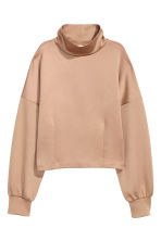 Top with a stand-up collar - Beige - Ladies | H&M CN 2