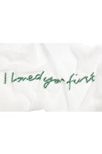 Mesh scarf - White/I loved you first - Ladies | H&M CN 3