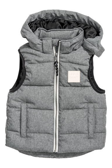 Padded gilet with a hood Model