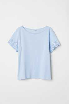 Top with broderie anglaise