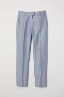 Silk-blend cigarette trousers