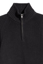 Ribbed jumper - Black - Men | H&M GB 3