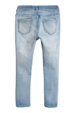 2-pack denim leggings - Black/Light denim blue - Kids | H&M CN 4