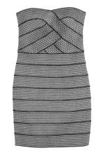 Glittery bandeau dress - Black/Silver-coloured - Ladies | H&M 2