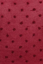 Spotted tights - Dark red/Spotted - Ladies | H&M IE 2