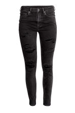 Skinny High Ankle Jeans - Black denim -  | H&M 3