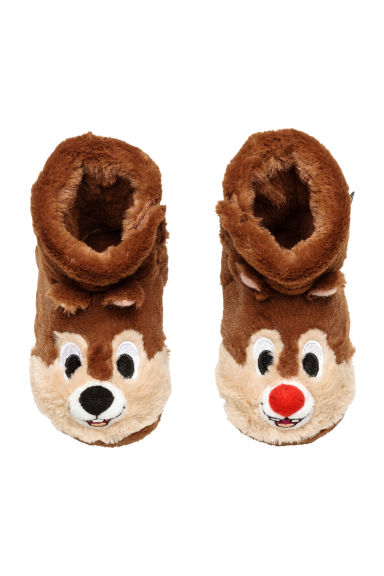 Soft slippers - Light brown/Chip 'n' Dale - Kids | H&M IE