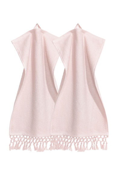 Asciugamani ospite, 2 pz - Rosa - HOME | H&M IT