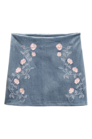 Skirt with embroidery Model