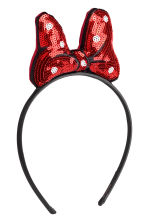 Alice band with a bow - Red/Minnie Mouse - Kids | H&M CN 1