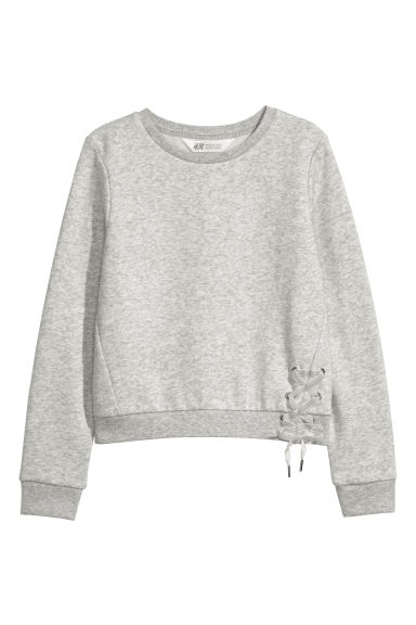 Sweatshirt - Light grey marl - Kids | H&M