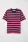Black/Pink striped