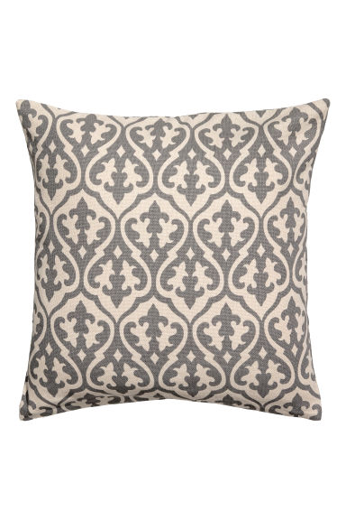 Patterned cushion cover - White/Grey patterned - Home All | H&M IE