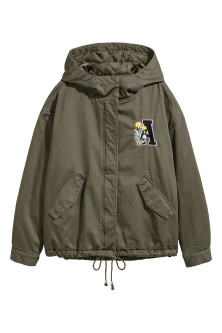 Short Parka with Hood