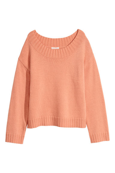 Knitted jumper - Peach -  | H&M