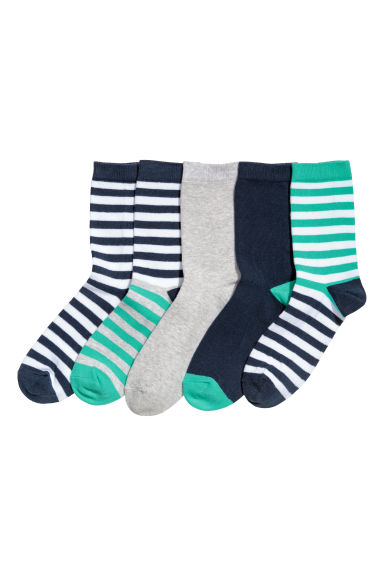 5-pack socks - Green/Striped - Kids | H&M CN