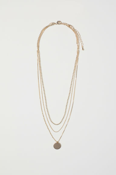 Triple-strand Necklace - Gold-colored -  | H&M CA