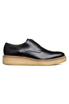 Wedge-heeled Derby shoes