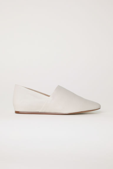 Leather Mules - Cream -  | H&M US