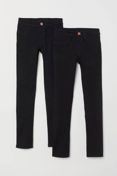 Skinny Fit Jeans, 2 pz - Nero - BAMBINO | H&M IT