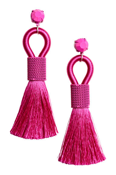 Tasselled earrings - Pink - Ladies | H&M