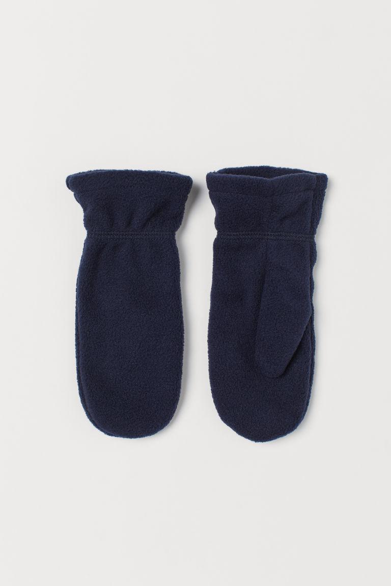 Fleece mittens - Dark blue - Kids | H&M GB