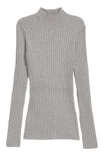 Rib-knit jumper - Grey marl - Ladies | H&M 2