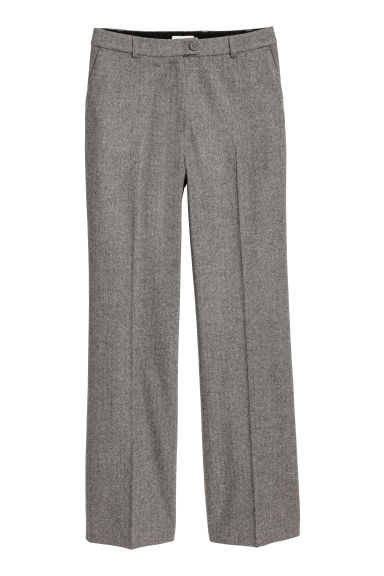 Wool-blend Suit Pants Model