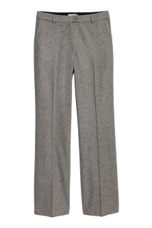 Wool-blend suit trousers