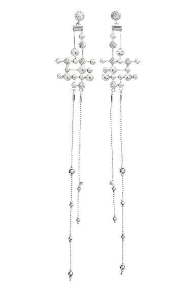 Long earrings - Silver-coloured - Ladies | H&M CN