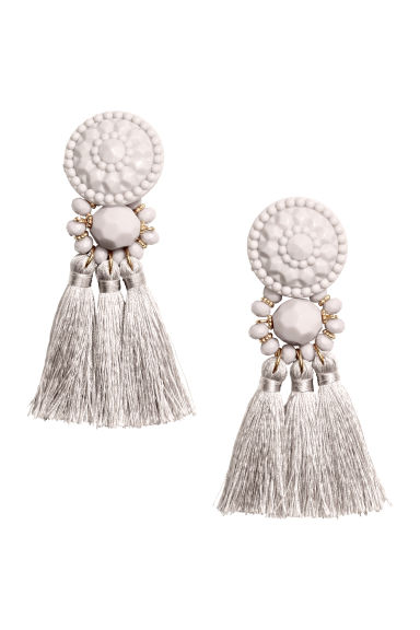 Earrings with tassels - Light mole - Ladies | H&M GB