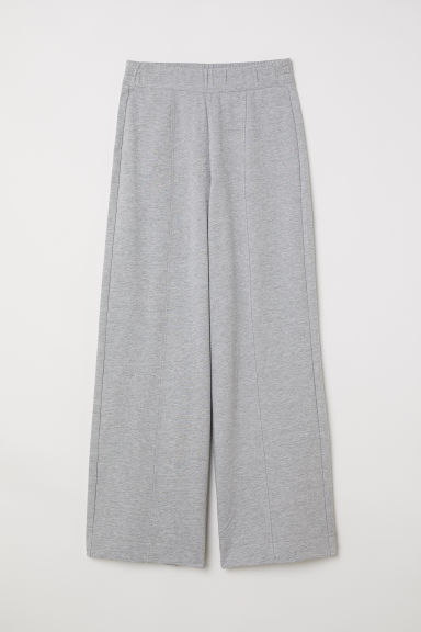 Wide jersey trousers - Grey -  | H&M CN