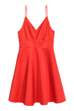Satin dress - Bright red - Ladies | H&M CN 2