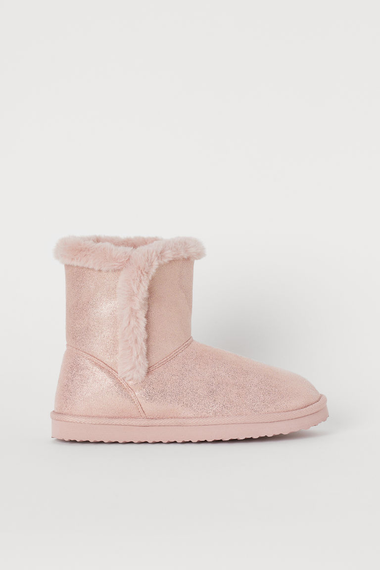 Warm-lined boots - Pink/Glittery - Kids   H&M GB