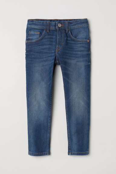 Relaxed Tapered Fit Jeans - Koyu kot mavisi -  | H&M TR