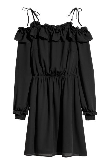 Off-the-shoulder dress - Black - Ladies | H&M IE