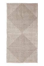 Patterned cotton rug - Mole/White patterned - Home All | H&M CN 1