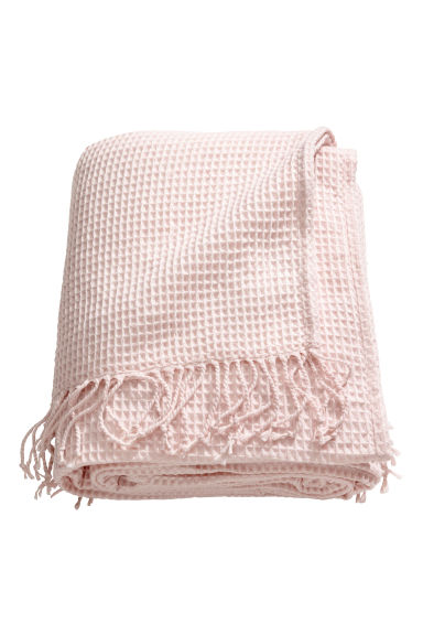 Waffled bedspread - Light pink -  | H&M GB