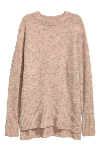 Knitted jumper - Beige -  | H&M IE