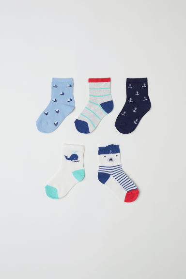 5-pack socks - White/Striped - Kids | H&M