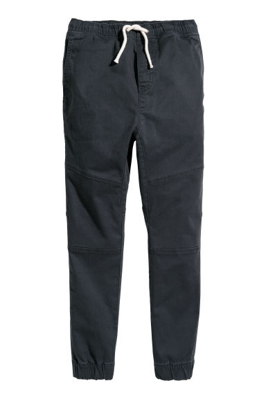 Twill pull-on trousers - Black - Kids | H&M