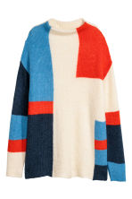 Knitted jumper - Natural white/Multicoloured - Ladies | H&M 2