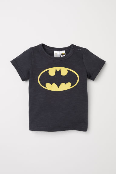 T-shirt with a print motif - Dark grey/Batman - Kids | H&M CN