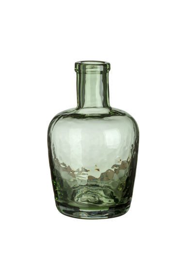 Small glass vase - Green -  | H&M GB