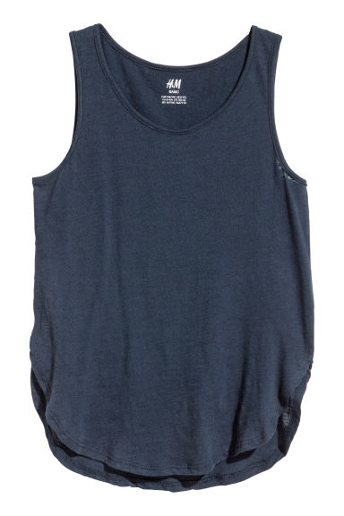 Tricot tanktop - Donkerblauw -  | H&M BE
