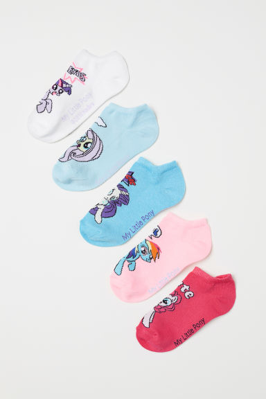 5-pack shaftless socks - Pink/My Little Pony - Kids | H&M CN