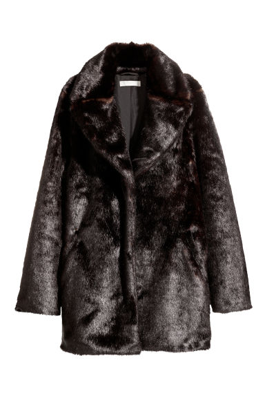 Faux fur jacket - Dark brown - Ladies | H&M CN